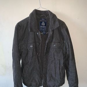 rare all gray sherpa corduroy jacket